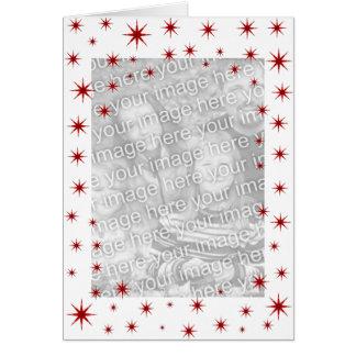 赤い星明かりのクリスマス カード