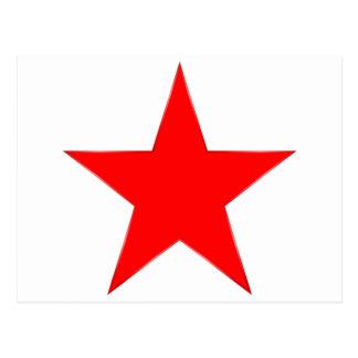 赤い星 ポストカード