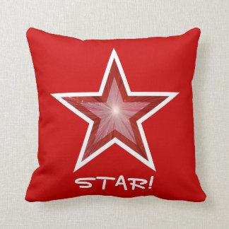 赤い星「星!」 装飾用クッションの正方形の赤 クッション