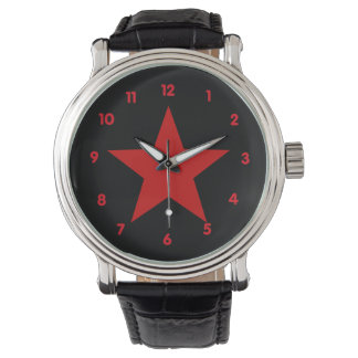 赤い星 腕時計