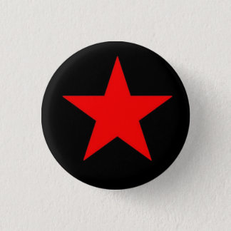 赤い星 3.2CM 丸型バッジ