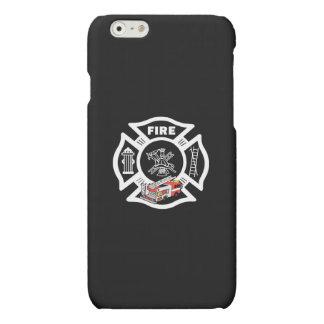 赤い普通消防車の救助 マットiPhone 6ケース