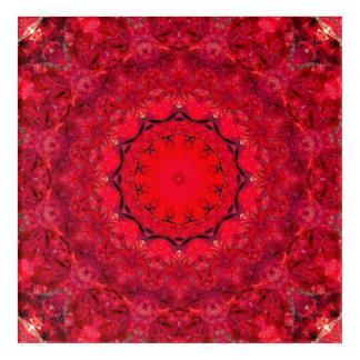 赤い曼荼羅の芸術 アクリルウォールアート