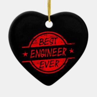 赤い最も最高のなエンジニア セラミックオーナメント