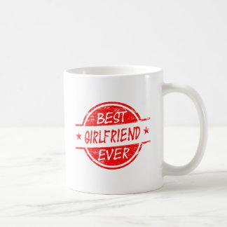 赤い最も最高のなガールフレンド コーヒーマグカップ