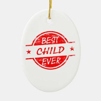 赤い最も最高のな子供 セラミックオーナメント