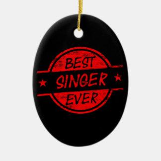 赤い最も最高のな歌手 セラミックオーナメント