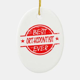 赤い最も最高のな歯科矯正医 セラミックオーナメント