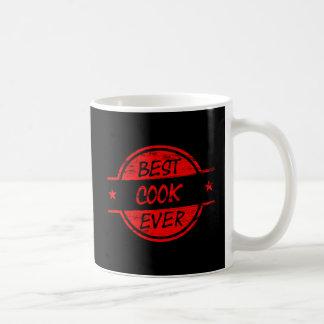 赤い最も最高のな調理師 コーヒーマグカップ