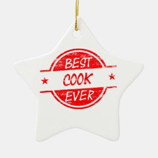 赤い最も最高のな調理師 セラミックオーナメント