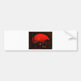 赤い月 バンパーステッカー