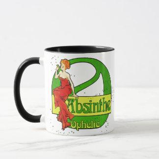 赤い服のアブサンのOphelieの女性 マグカップ
