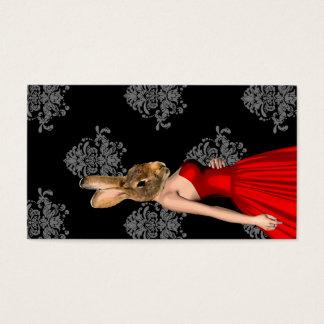 赤い服のバニー 名刺