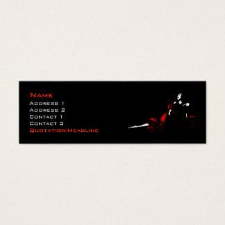 赤い服 スキニー名刺