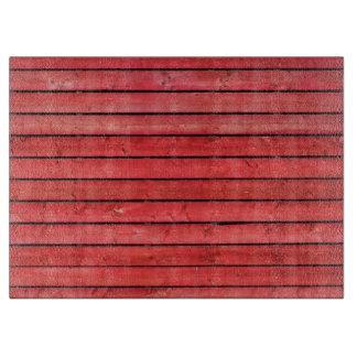 """赤い木の板のガラスまな板15"""" x11 """" カッティングボード"""