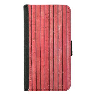 赤い木の板の銀河系S5のウォレットケース GALAXY S5 ウォレットケース