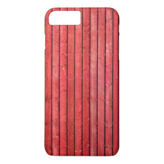 赤い木の板のiPhone 7のプラスの場合 iPhone 8 Plus/7 Plusケース