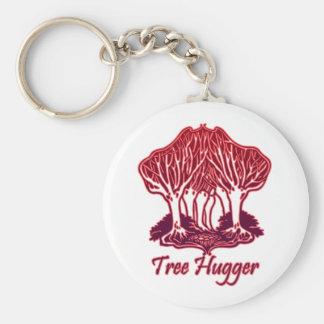 赤い木のHuggerの自然の木の環境 キーホルダー