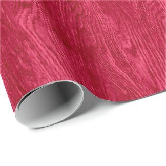 赤い木製の穀物の質 ラッピングペーパー