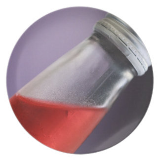 赤い果実のソーダ プレート