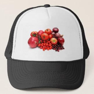 赤い果物と野菜 キャップ