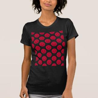 赤い柑橘類の水玉模様 Tシャツ