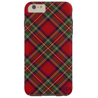 赤い格子縞のデザインのiPhoneの箱 Tough iPhone 6 Plus ケース