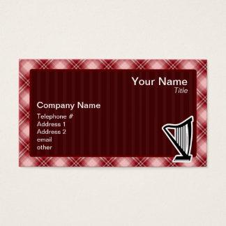 赤い格子縞のハープ 名刺