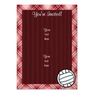 赤い格子縞のバレーボール カード