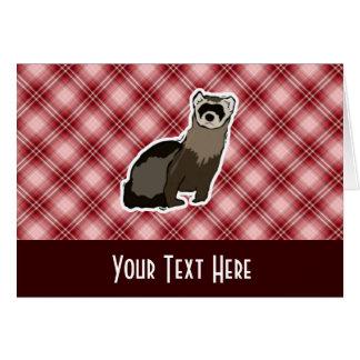 赤い格子縞のフェレット カード
