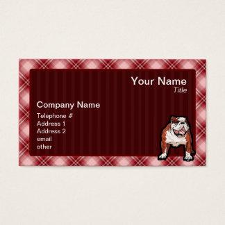 赤い格子縞のブルドッグ 名刺