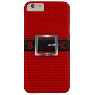 赤い格子縞のモノグラムのな締められた黒帯 iPhone 6 PLUS ベアリーゼアケース