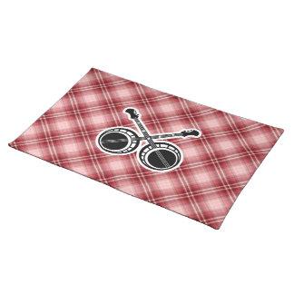 赤い格子縞の決闘のバンジョー ランチョンマット