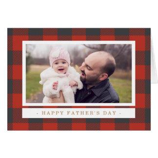 赤い格子縞の父の日 グリーティングカード