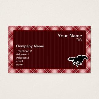 赤い格子縞の競馬 名刺