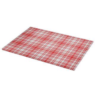赤い格子縞 カッティングボード
