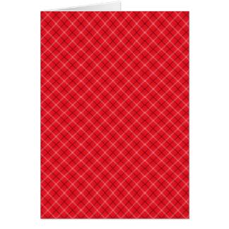 赤い格子縞 カード