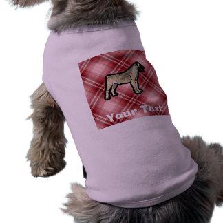 赤い格子縞Bullmastiff ペット服