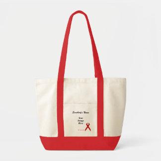 赤い標準的なリボンのテンプレート トートバッグ