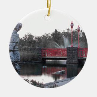 赤い橋 セラミックオーナメント