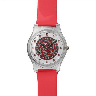 赤い機械類May28thの腕時計 腕時計