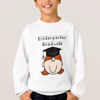 赤い毛の女の子の幼稚園の卒業生のTシャツ スウェットシャツ