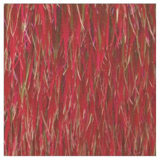 赤い毛皮 ファブリック