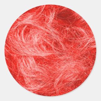 赤い毛皮 ラウンドシール