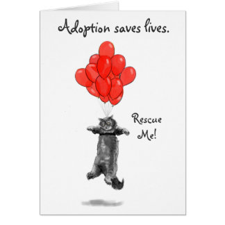 赤い気球は私をNotecards救助します カード