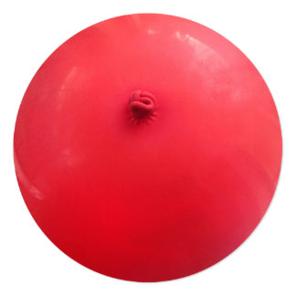 赤い気球 13.3 スクエアインビテーションカード