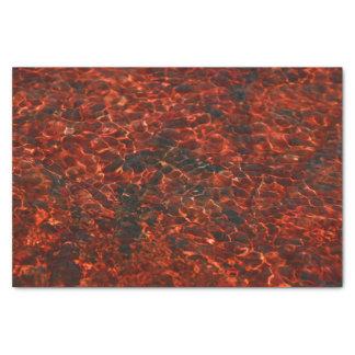 赤い水パターンが付いているティッシュペーパー 薄葉紙