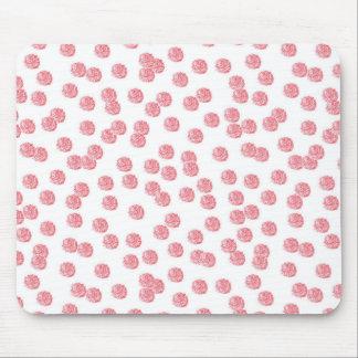 赤い水玉模様のマウスパッド マウスパッド