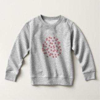 赤い水玉模様の幼児のスエットシャツ スウェットシャツ