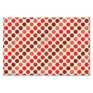 赤い水玉模様の陰 薄葉紙